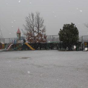 4月の雪…PTA総会終了